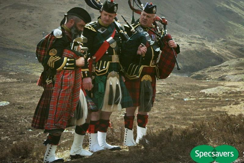 bagpipers star in new specsavers advert optician