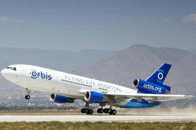 Orbis Flying Eye plane