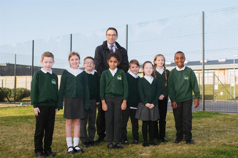 Pupils at Greentrees Primary School in Salisbury