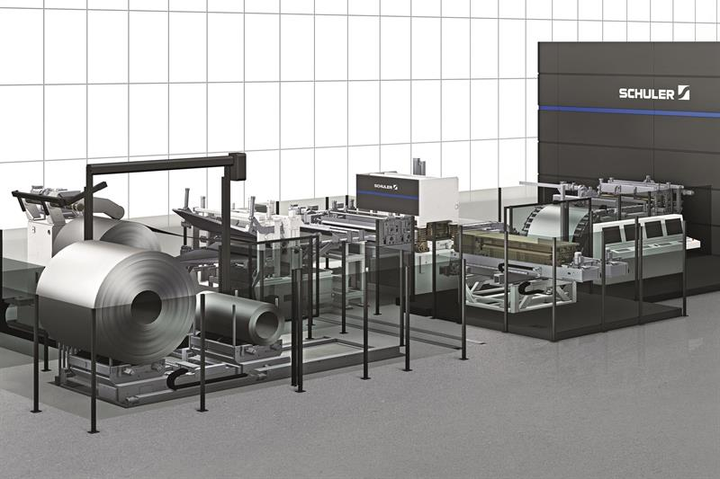 Machinery Schuler Laser Blanking Line First For North