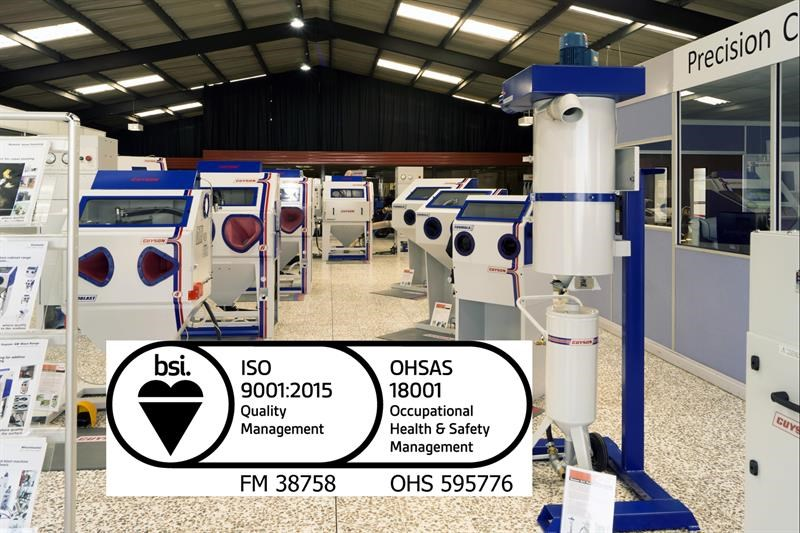 ISO 9001:2015 is now in place at Guyson