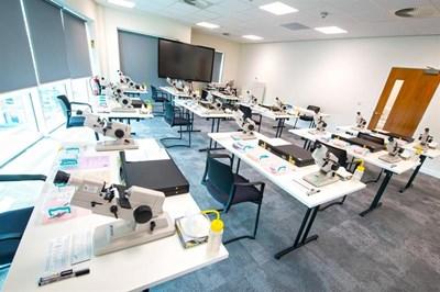 Exam room with equipment