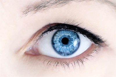 Woman with blue eye