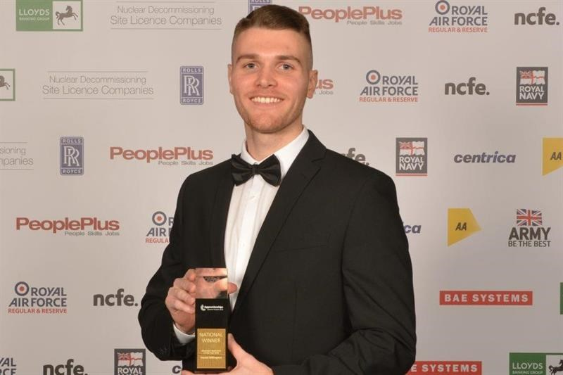Millington saw off eight other apprentices to win
