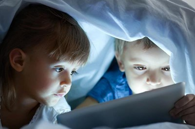 Children looking at screen