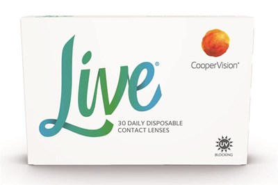 CooperVision's Live contact lens