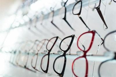 Glasses on display