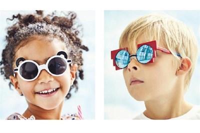 Children modelling Zoobug frames