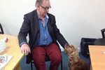 David Cantor and rescue dog Bertie