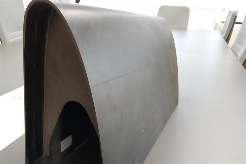 AM composite part of a curved aircraft wing