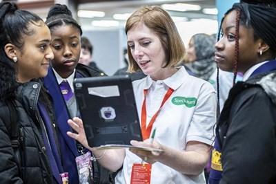 Students at the Big Bang Fair in Birmingham