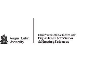 Anglia Ruskin University – Department of Vision & Hearing Sciences Logo