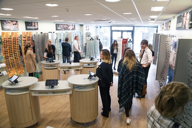 The new look encourages customers to move through the store rather than wait