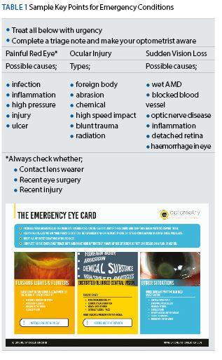 Emergency eye care resources for primary care practice - Optician