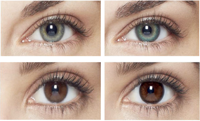 Good ... Natural Shimmer (bottom Right) Lenses Enhance The Beauty Of The Natural  Iris (left Hand Images) And Add Depth And Definition Without Completely  Changing ...
