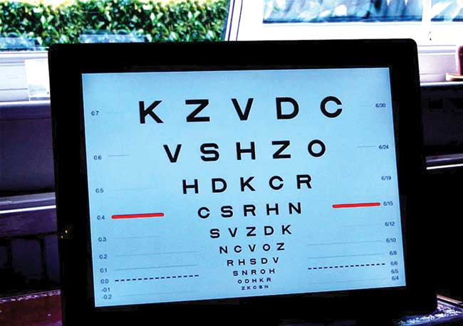 What equipment is essential for domiciliary testing? - Optician