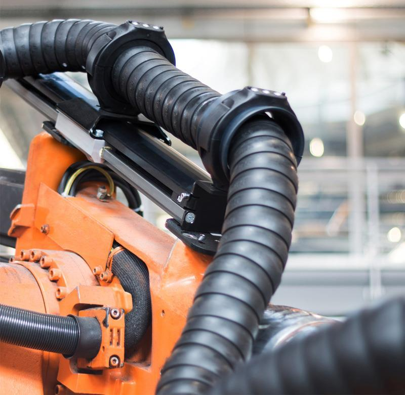 Igus Energy Chain Retraction System For Industrial Robots