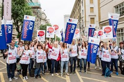 The RCN joined a protest against the plans on 4 Ju