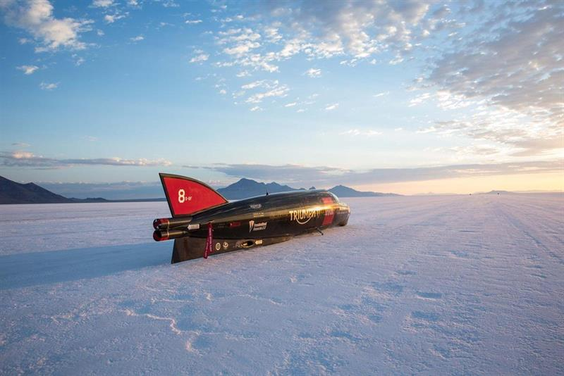 Guy Martin, Triumph Break Personal Record at Bonneville Salt Flats