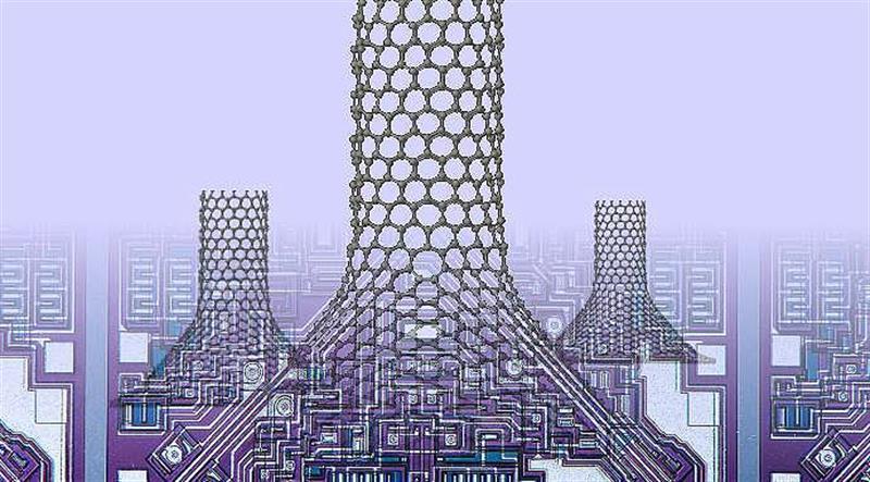 Nano-chimneys in graphene material may cool circuits