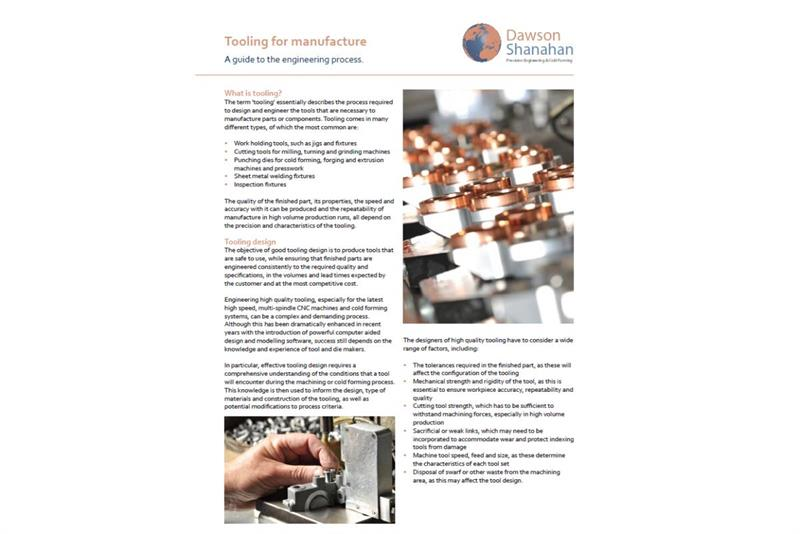 Tooling for manufacture: A guide to the engineering process