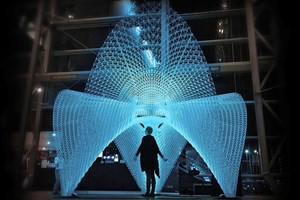 This 3D printed structure was built by AI robots