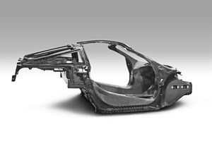 The McLaren all-composite chassis