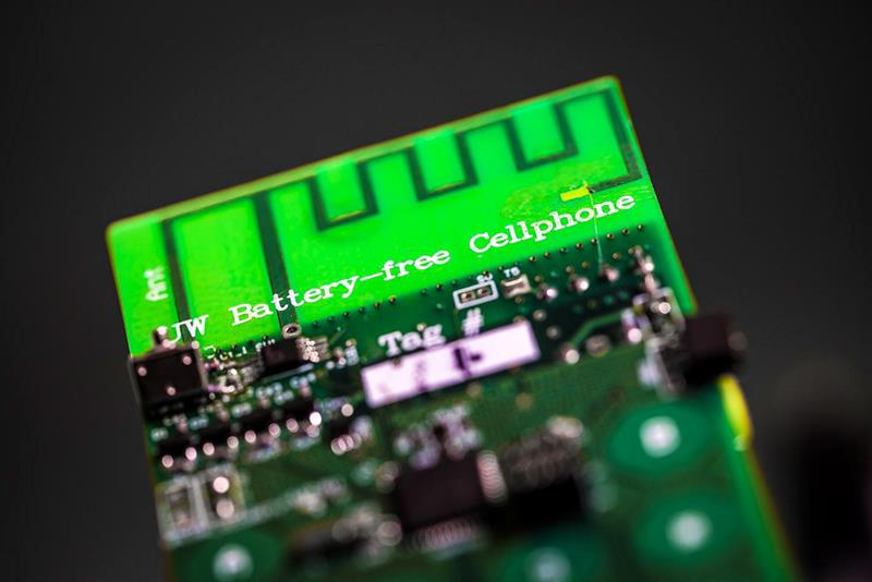 Battery free phone harvests ambient power