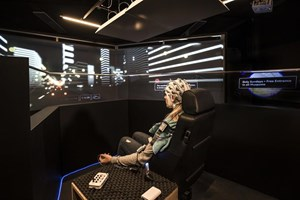 Brain activity was measured during the simulation