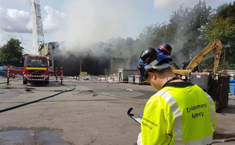Popup Large Fire Breaks Out At Derby Veolia Plant