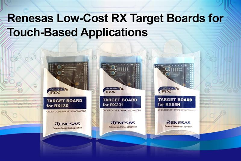 Renesas Electronics unveils low-cost Target Boards to