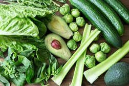 Leafy green vegetables are a source of folate