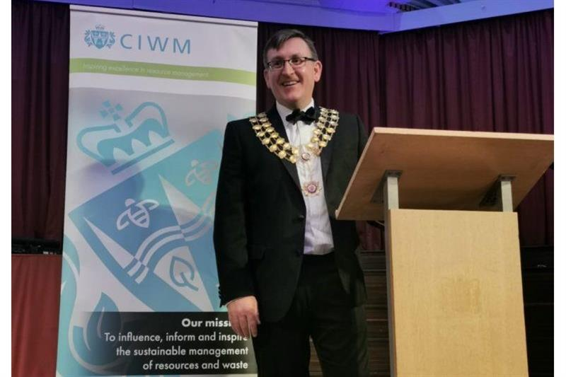 CIWM president Trevor Nicoll launches skills and and training initiatives in inaugural speech