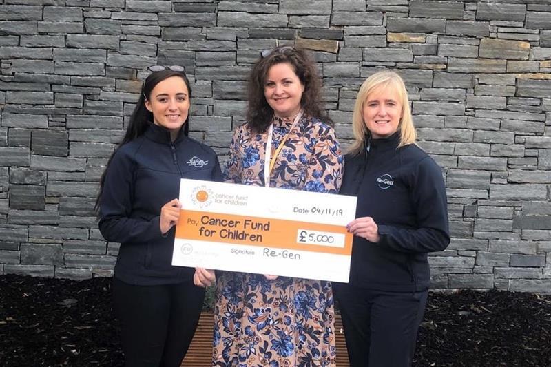 Re-Gen Waste staff donate over £10k to Cancer Fund for Children