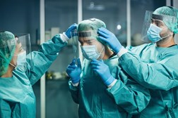 Hospitals were prioritised at the start of COVID