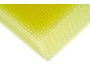 Resin extruded honeycomb panels