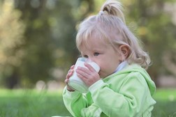 Allergy to milk is common in young children