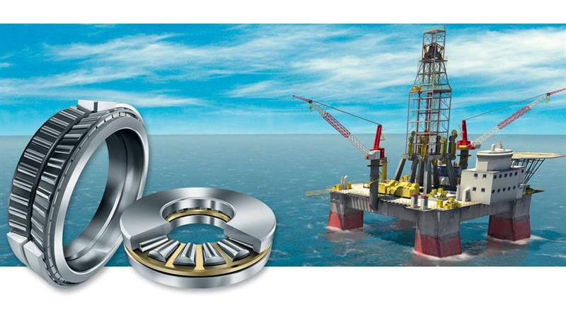 Robust reliable bearings for oil & gas drill rig plant and