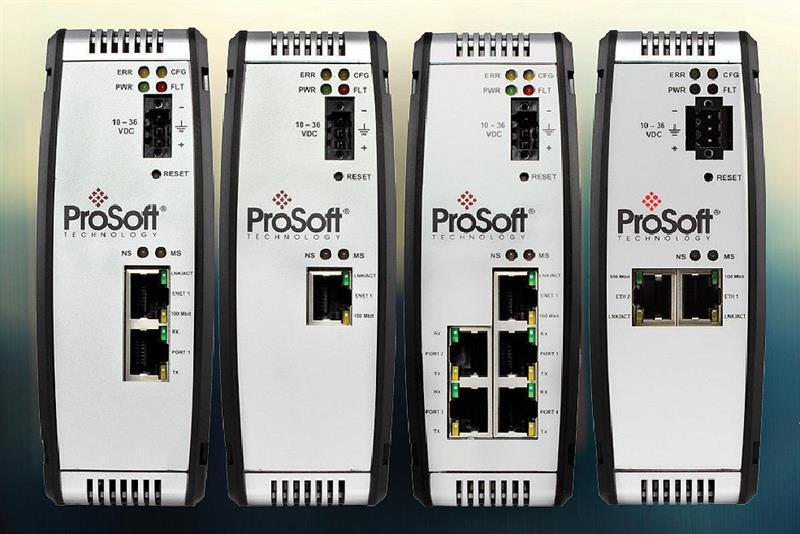 Five gateways bring Modbus, EtherNet/IP and PROFINET together