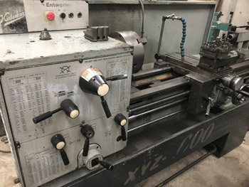 XYZ 1600 gap bed centre lathe,