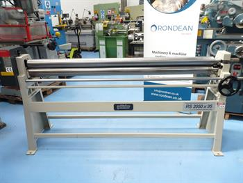 Sahinler 2050 x 95mm Geared Hand Operated Bending Rolls EX DEMO