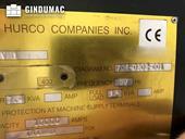 Nameplate of Hurco VM 1  machine