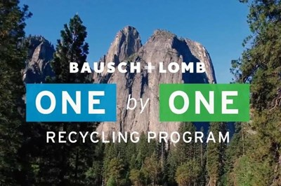 ?Bausch+Lomb recycle 5 million units of cl waste