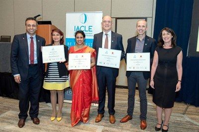 Some of the winners at the IACLE awards ceremony