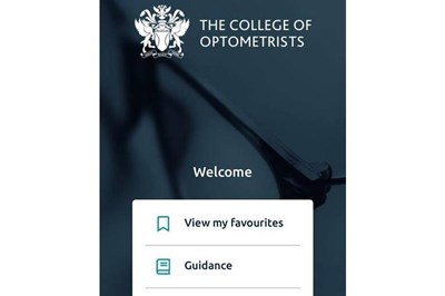 College of Optometrists has new app for members
