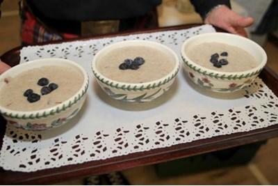 Porridge in bowls