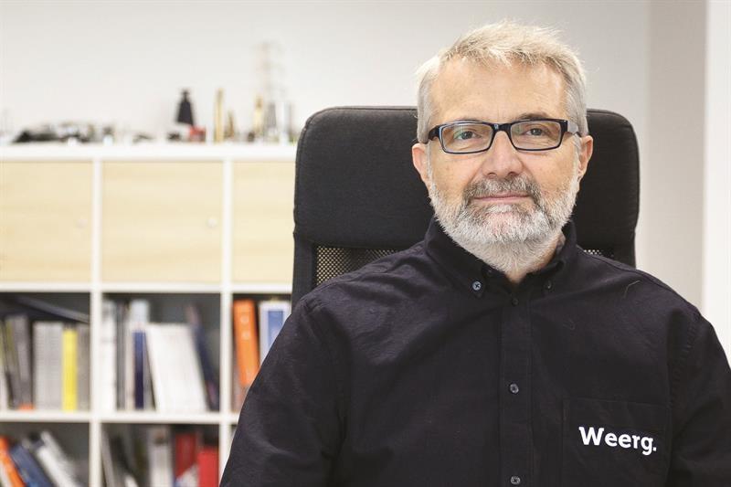 Weerg founder, Matteo Rigamonti