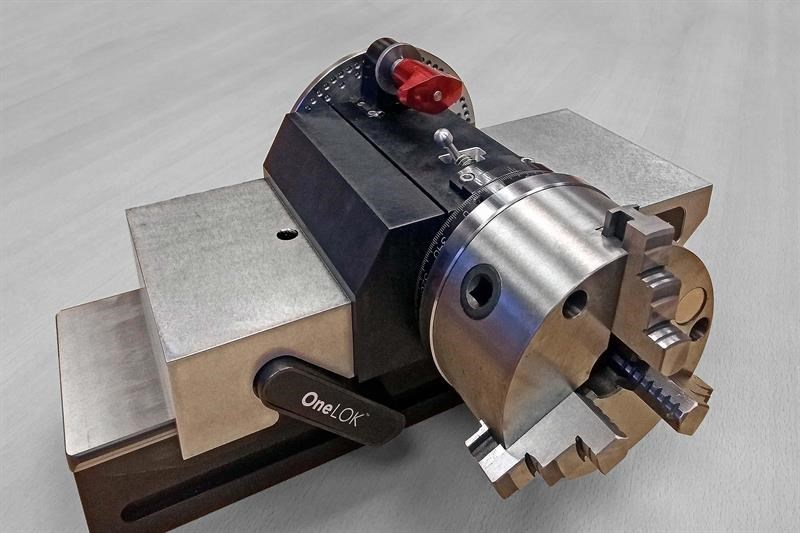 RotaVice indexing head secured in a Chick One-Lok