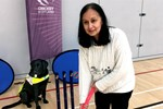 Jamila Shaikh and guide dog Bubbles