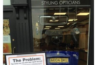 Opticians' window display